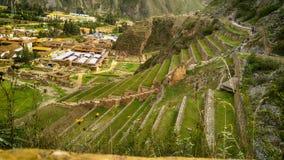 Археологические раскопки Ollantaytambo в священной долине стоковое изображение rf