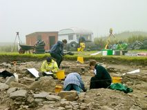 Археологические раскопки, Orkneys Стоковая Фотография