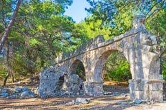 Археологические раскопки Phaselis, Tekirova, Турция Стоковые Фотографии RF