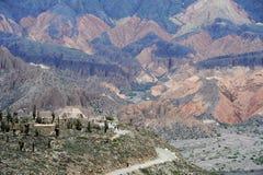 археологическое близкое tilcara места pucara стоковые фото