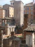 Археологическое место аргентинки площади в Риме в Италии Стоковые Фото