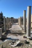 АРХЕОЛОГИЧЕСКОЕ МЕСТО В PAPHOS, КИПР Стоковое фото RF