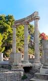 археологическое место Олимпии Греции Стоковые Фото