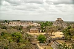 Археологическое место Uxmal Стоковое Изображение RF