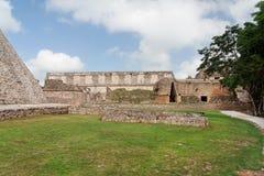 археологическое место uxmal yucatan Мексики стоковая фотография
