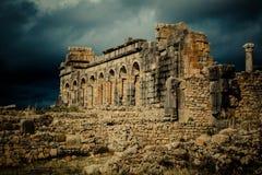 Археологическое место Volubilis Стоковое Фото