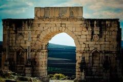 Археологическое место Volubilis Стоковые Изображения