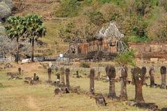 Археологическое место Wat Phu около Champasak Стоковое Изображение RF