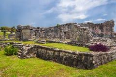 археологическое tulum руин Стоковые Изображения