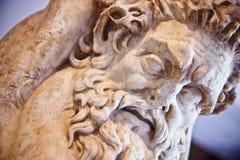 Археологическая деталь статуи Стоковое Изображение RF