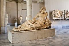 Археологическая деталь статуи Стоковые Изображения RF