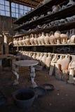 Археологические раскопки Помпеи, Италии Стоковое фото RF