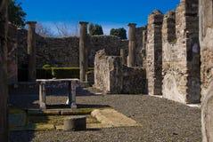 Археологические раскопки Помпеи, Италии Стоковые Изображения RF