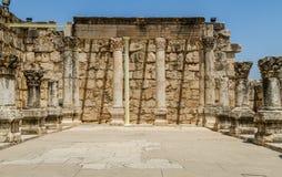 Археологические раскопки Capernaum, море Галилеи в Израиле Стоковые Изображения