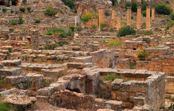 Археологические раскопки Cyrene, Cyrenaica, Ливия - место всемирного наследия ЮНЕСКО Стоковое фото RF