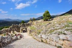 Археологические раскопки Mycenae и Tiryns, Греции стоковое изображение rf