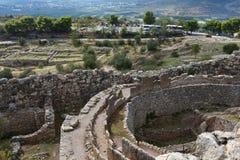 Археологические раскопки Mycenae и Tiryns, Греции стоковые фотографии rf