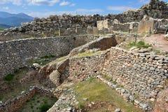 Археологические раскопки Mycenae и Tiryns, Греции стоковое фото rf