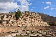 Археологические раскопки Mycenae и Tiryns, Греции стоковое фото