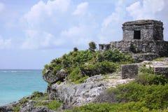 Археологические руины Tulum, Мексики Стоковое фото RF