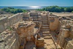 Археологический музей в Paphos на Кипре стоковое фото rf
