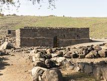 Археологическое место библейского города Korazim в Израиле Стоковое Изображение