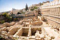 Археологическое место в Иерусалиме, Израиле Стоковые Изображения RF