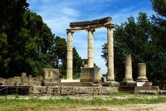 Археологическое место в Олимпии Стоковые Фото