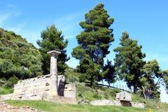 Археологическое место в Олимпии Стоковая Фотография RF