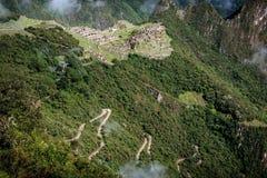 Археологическое место Machu Picchu, Перу Стоковые Фото