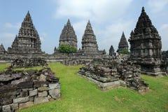 Археологическое место Prambanan на острове Ява Стоковое фото RF