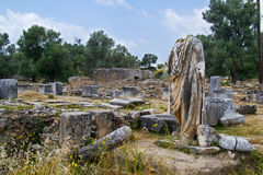 Археологическое римское место стоковое изображение rf