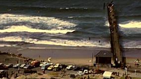 Архивный вид с воздуха пляжа Дурбана сток-видео