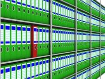 архивохранилище документирует шкаф иллюстрация вектора