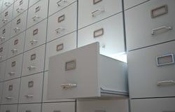 архив шкафов Стоковое Изображение RF