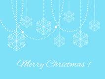 архив eps рождества 8 предпосылок шикарный включил вектор снежинки Стоковая Фотография RF