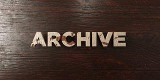 Архив - grungy деревянный заголовок на клене - представленное 3D изображение неизрасходованного запаса королевской власти бесплатная иллюстрация