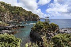 Архипелаг Азорских островов имеет вулканическое начало и остров São Мигеля имеет много пляжей стоковые изображения
