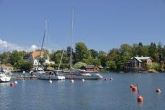 Архипелаг Nynshamn с Мариной стоковые фотографии rf
