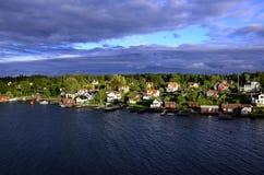 Архипелаги около Стокгольма Швеции Стоковая Фотография