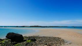 Архипелаг малой воды Iles de Chausey (2) стоковые фото