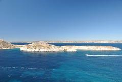 Архипелаг островов Friulian в Средиземном море Стоковое Фото