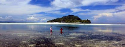Архипелаг Ampat раджи в восточной Индонезии, острове Kri Стоковые Фото
