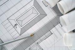 архитектор планирует серию стоковая фотография rf