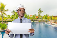 Архитектор чернокожего человека Стоковая Фотография RF