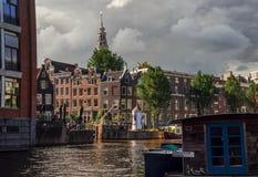 Архитектура Амстердама традиционная Стоковые Изображения