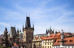 Архитектура башни Карлова моста в Праге Стоковая Фотография RF