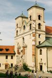 Архитектура бенедиктинского аббатства в Cracow, Польше стоковые фото