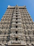Архитектура виска Annamalaiyar в Tiruvannamalai, Индии Стоковое Изображение