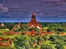 Архитектура виска Htilominlo старая Bagan, Мьянмы Стоковая Фотография